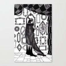 Ash Pale / Snow White Canvas Print