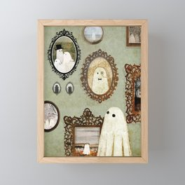 There's A Ghost in the Portrait Gallery Framed Mini Art Print
