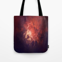 Red Nebulous Interstellar Dust - Space Landscape Tote Bag