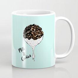 Cute Hand Drawn Foodie Cookies and Milk Coffee Mug
