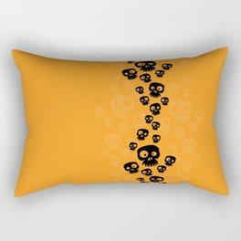 Skulls Fun - black/orange Rectangular Pillow