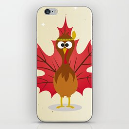 Thanksgiving Tribal Turkey Woodland Nursery iPhone Skin
