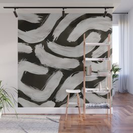 Worms, Abstract, White & Black Wall Mural