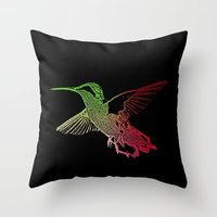neon Throw Pillows featuring Neon by Nichole B.