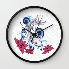 Coy Koi Wall Clock