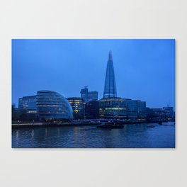 Early Morning River Thames View Canvas Print
