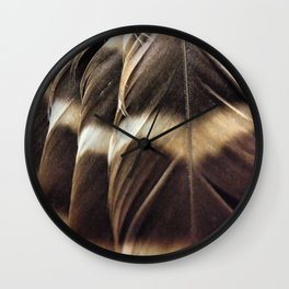 Barred Owl Feathers Wall Clock