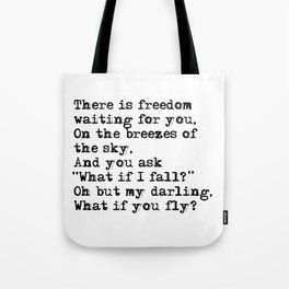 What if you fly? Vintage typewritten Tote Bag