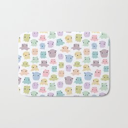 Colourful dumbo octopus pattern Bath Mat