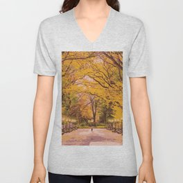 Autumn in Central Park Unisex V-Neck