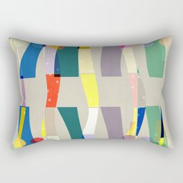 COLOR BLOCK LINEN #5 . MINIMALIST ABSTRACT Rectangular Pillow