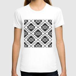 Aztec Symbol Pattern Black on White T-shirt