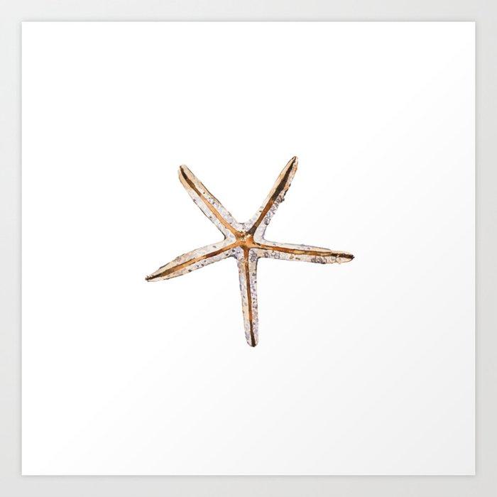 Blonde starfish Kunstdrucke