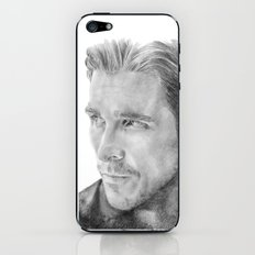 Christian Bale Traditional Portrait Print iPhone & iPod Skin