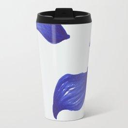 Deep blue leaves pattern Travel Mug