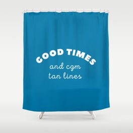 Good Times and CGM Tan Lines Shower Curtain