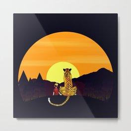 in the sunset art Metal Print
