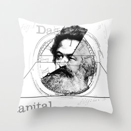 The Time of Marx Throw Pillow