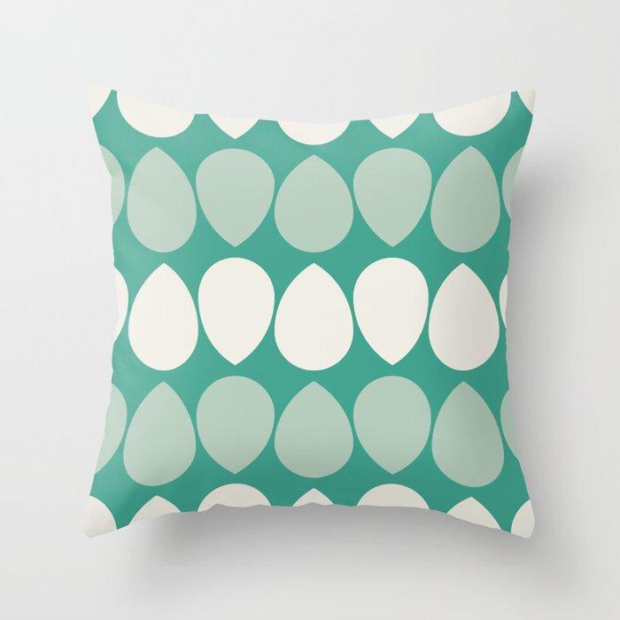 Adelaide Modern Wilma In Seafoam Green Throw Pillow