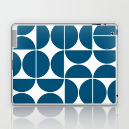 Mid Century Modern Geometric 04 Blue Laptop & iPad Skin