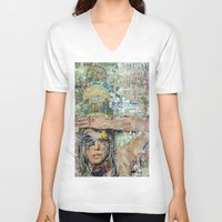ice cream V-neck T-shirts featuring Ice Cream by Katy Hirschfeld