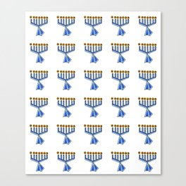 menorah 7,Hanukkah,jewish,jew,judaism,Festival of Lights,Dedication,jerusalem,lampstand,Temple, מְנו Canvas Print