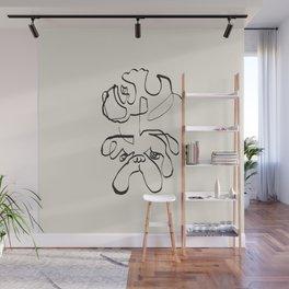 Abstract line english bulldog Wall Mural