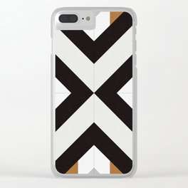 Geometric Art with Bands 12 Clear iPhone Case