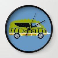 1975 Wall Clocks featuring Death Race 2000 Alligator Van by Brandon Ortwein