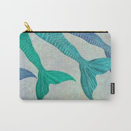 Glistening Mermaid Tails Carry-All Pouch