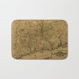 Map Of Connecticut 1797 Bath Mat