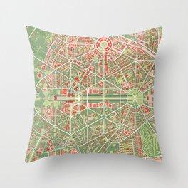 New Delhi map classic Throw Pillow