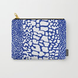 ANIMAL PRINT SNAKE SKIN BLUE AND WHITE PATTERN Carry-All Pouch
