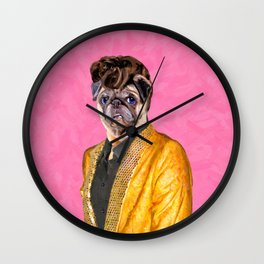 Elvis Pugsley - The King of Doghouse Rock Wall Clock