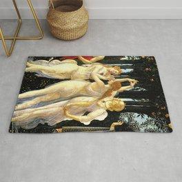 Sandro Botticelli Primavera The Three Graces Rug