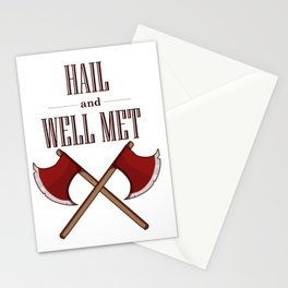 Hail and Well Met Stationery Cards