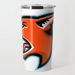 Caracal Head Side Mascot Travel Mug