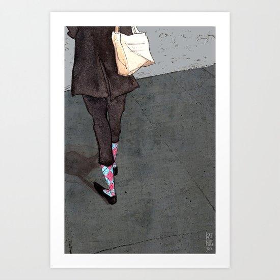 Argyle Socks by Kat Mills Art Print