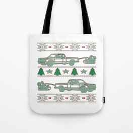 Trucker Christmas Tote Bag