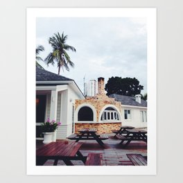 Pizzeria Beach Art Print