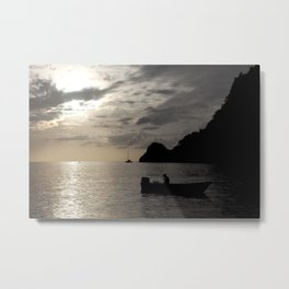 Caribbean fishing Metal Print