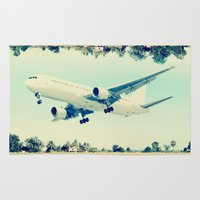 plain Area & Throw Rugs featuring Plain / Plane by Amiee Groundwater