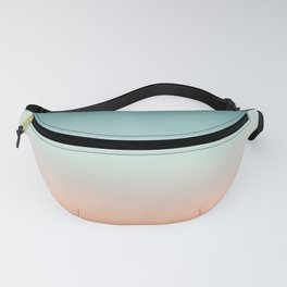 Color gradient background - fading sunset sky colors Fanny Pack