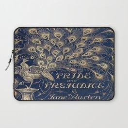 Pride and Prejudice, Peacock; Vintage Book Cover Laptop Sleeve