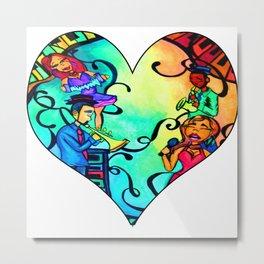 Rainbow African American band Metal Print