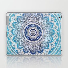 Teal And Aqua Lace Mandala Laptop & iPad Skin
