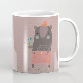 Big Bear and Bluebird Pink Coffee Mug