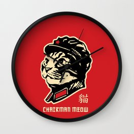 Chairman Meow Communist Cat Wall Clock