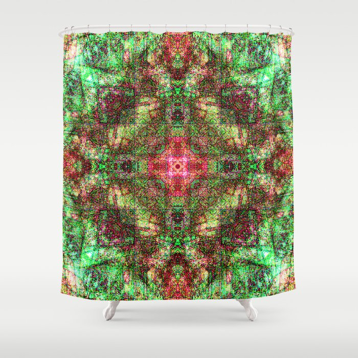 Sandala Red & Green Shower Curtain