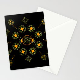 Orange and Green Spaces 115 Stationery Cards